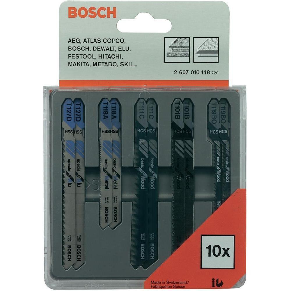 (2607010148) 10 ЛОБЗИКОВЫХ ПИЛОК SET // Bosch