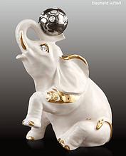 Статуэтка Слон с мячом. Керамика, Италия, ручная работа