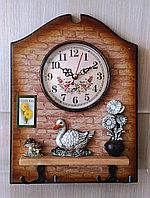 """Часы настенные кухонные """"Уточка"""",с крючками, фото 1"""