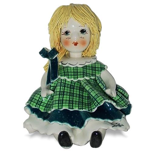 Статуэтка Девочка с бантиком. Керамика, ручная работа, Италия