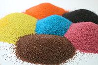Цветной песок, трафареты, стол...