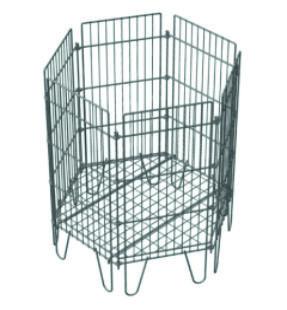 Торговое оборудование -Корзина-манеж разборная шестигранная, цинк , 710*640*800