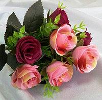 """Букет """"Fiesta Bubbles rose"""" комбинированный (розовые,бордовые) искусственный, фото 1"""