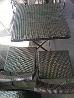 """Столик со стульями из искусственной лозы (техноротанг) """"wick"""""""