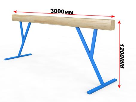Бревно гимнастическое (регулируемая высота) 3м, фото 2