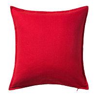 ГУРЛИ Чехол на подушку, красный