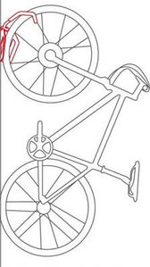 Крепление велосипеда на стену Ventura (за перед.колесо)