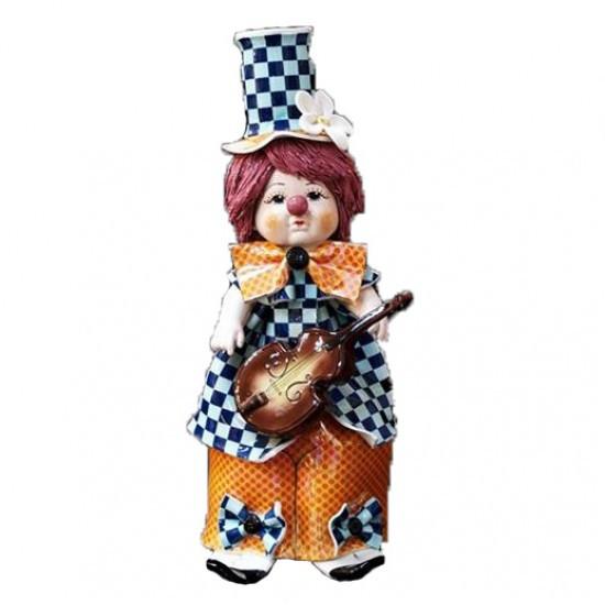 Статуэтка Клоун с гитарой. Керамика, Италия