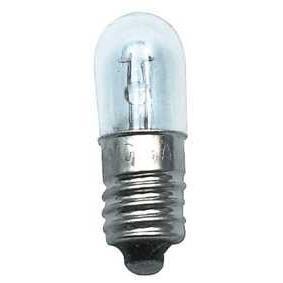 Миниатюрная лампа с винтовым цоколем E10 и колбой цилиндрической формы, 12V 100mA