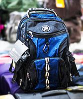 """Рюкзак """"SWISSGEAR"""", (черный, с синими вставками)"""