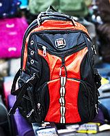 """Рюкзак """"SWISSGEAR 01"""", (черный, с красными вставками)"""