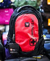 """Рюкзак """"SWISSGEAR 02"""" , (черный, с красными вставками)"""