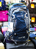 """Туристический рюкзак """"XINHUASHUAI CAPACITY 60L"""", (серый, с синими вставками)"""