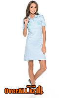 Платье поло светло-голубое, фото 1