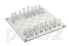 Шахматы из стекла с прозрачной доской 25*25