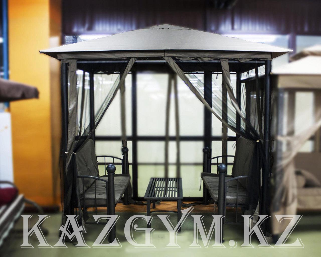 Беседка со столиком и скамейками (2.5х2.3м)