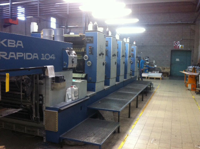 KBA Rapida 104-5 б/у 1996г - 5-ти красочная печатная машина