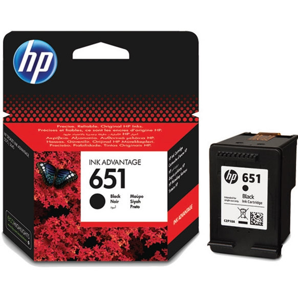 HP C2P10AE Черный струйный картридж HP 651