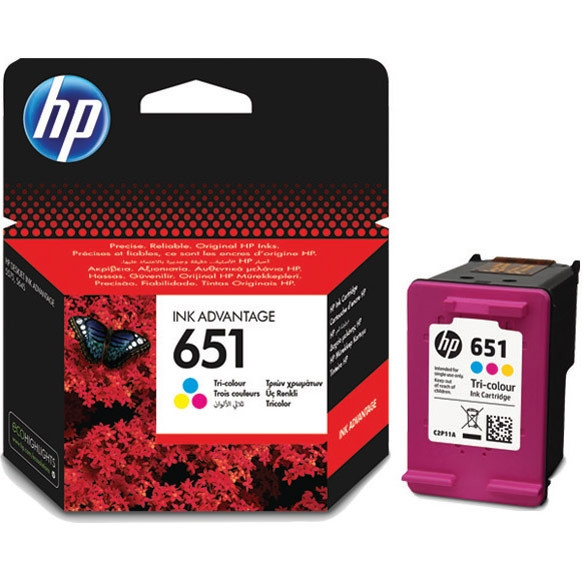 HP C2P11AE Оригинальный струйный картридж. Трехцветный HP 651