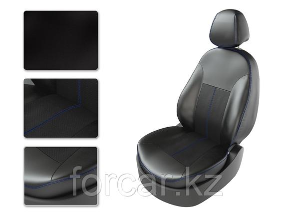 Чехлы модельные KIA RIO 4 с 2011 SD дел черный/черный/синий 22068665 CarFashion, фото 2