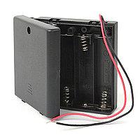 Отсек батарейный 4шт AA/R6 с выключателем