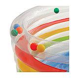Детский надувной батут INTEX ПРОЗРАЧНЫЙ с мячами, фото 3