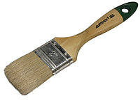 """Кисть плоская STAYER """"UNIVERSAL-EURO"""", светлая натуральная щетина, деревянная ручка, 25мм"""