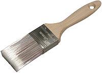 """Кисть плоская STAYER  """"AQUA-LUX"""", искусственная щетина, неокрашенная профессиональная деревянная ручка, 75мм"""