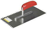 """Гладилка STAYER """"MASTER"""" стальная с деревянной ручкой, зубчатая, 6х6мм, 0801-06"""