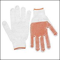 """Перчатки STAYER """"МASTER"""" трикотажные, 7 класс, х/б, с защитой от скольжения, L-XL, 10пар"""