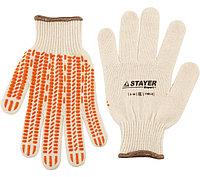 """Перчатки STAYER """"EXPERT"""" трикотажные с защитой от скольжения, 10 класс, х/б, S-M"""