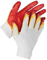 """Перчатки STAYER """"МASTER"""" трикотажные, двойная обливная ладонь из латекса, х/б, 13 класс, S-M"""