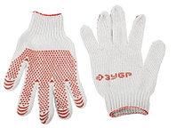 """Перчатки ЗУБР """"МAСTEP"""" трикотажные, 7 класс, х/б, с защитой от скольжения, L-XL, 10пар"""