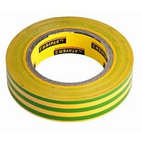 """Изолента STAYER """"PROFI"""" желто-зеленая, ПВХ, 15мм х 10м х 0,18мм, фото 1"""