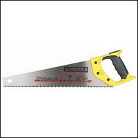 Ножовки по дереву (пила) STAYER TopCut 400 мм, 5 TPI, прямой крупный зуб 5 TPI: быстрый рез поперек волокон, для крупных и средних заготовок