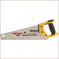 Ножовка многоцелевая (пила) STAYER TOOLBOX 350 мм, 11 TPI, мелкий прямой закаленный зуб, точный рез