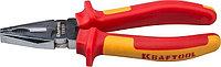 """Плоскогубцы KRAFTOOL """"ELECTRO-KRAFT"""", Cr-Mo сталь, двухкомпонентная рукоятка, хромированное покрытие, 200мм"""