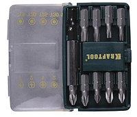 """Набор KRAFTOOL """"EXPERT"""" """"MINI - 2"""" Биты с магнитным адаптером в мини бит-боксе, 10 предметов"""