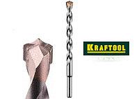 Сверло KRAFTOOL по бетону, ударное с самоцентрирующим наконечником, цилиндрический хвостовик, d10х120мм