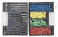 Набор DEXX: Сверла комбинированные, по металлу 7шт, по дереву 5шт, по кирпичу 5шт, биты 6шт, дюбели 277шт