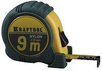 """Рулетка KRAFTOOL """"EXPERT"""" с нейлоновым покрытием, обрезин корпус, 9/25мм"""