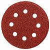 """Круг шлифовальный универсальный STAYER """"MASTER"""" из абразивной бумаги на велкро основе, 8 отверстий, Р80, 125мм, 5шт"""