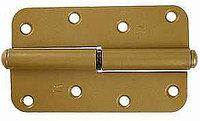 """Петля накладная стальная """"ПН-110"""", цвет золотой металлик, левая, 110мм"""