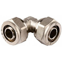 Уголок ЗУБР соединительный, цанга-цанга, 20х20х2,0, никель