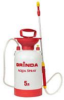 """Опрыскиватель садовый GRINDA """"Aqua Spray"""", широкая горловина, устойчивое дно, алюминиевый удлинитель, 4л"""