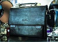 """Мужская сумка-портфель """"CANTLOR 002"""", 26х37см (черная)"""
