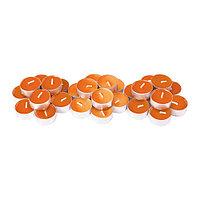 СИНЛИГ Свеча греющая аром 30 шт, Персик и апельсин, оранжевый