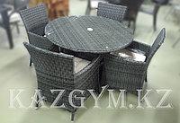 Стол круглый с 4 креслами