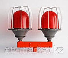 Заградительный огонь ЗОМ красный c решеткой, сдвоенный