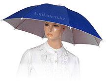 Зонт шляпа на голову (синий)